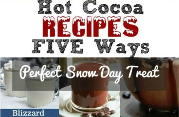 Hot Cocoa, Made Five Ways
